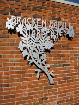 Bracken Family Garden Sign, Efroymson Conservation Center, Indianapolis Indiana