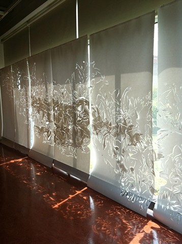 Window Installation for the Carl and Helen Burger Gallery at Kean University