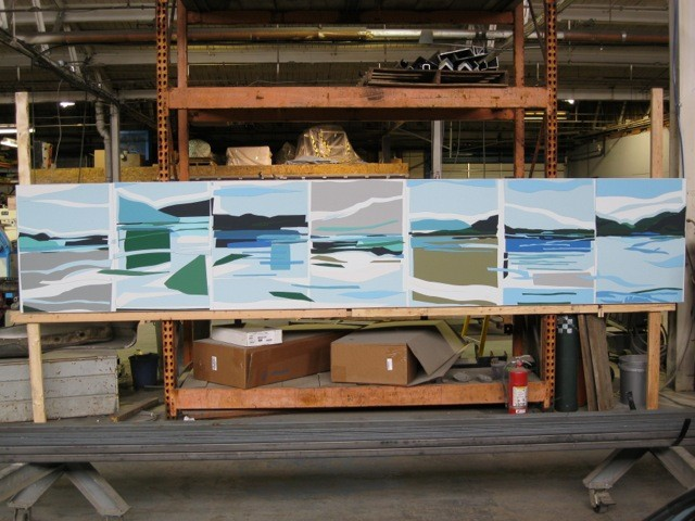 Twin Lakes seven panel piece in the foundry ready to ship