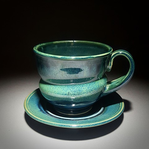 Item DV110 Cappuccino Set in Storm & Seaweed