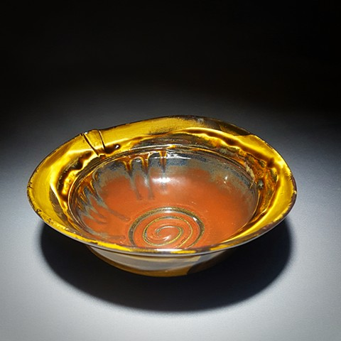 Item SD101 Single Serve Lipped Bowl in Jasper & Iron