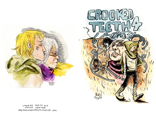 Crooked Teeth #4 Second printing, Color Copy Cover