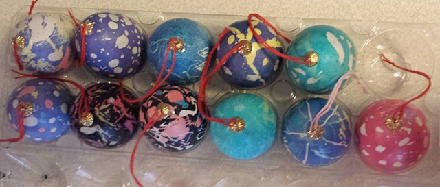 Ukrainian Easter Eggs made by 8-year-olds