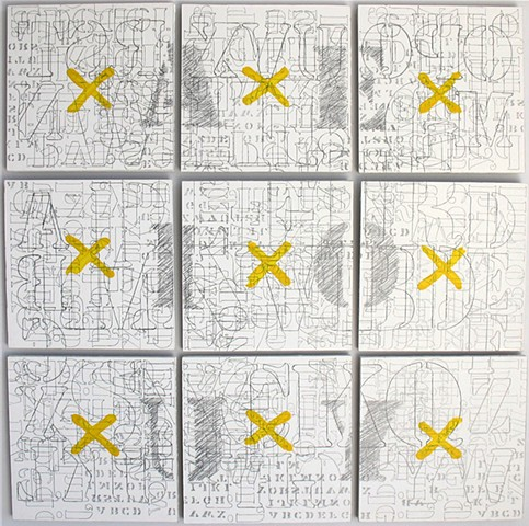 Cacophony #1, 2010. Acrylic and graphite on drywall.