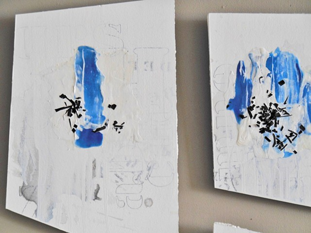 Blue Possibilities - Detail image. 2016. Acrylic and graphite on drywall.