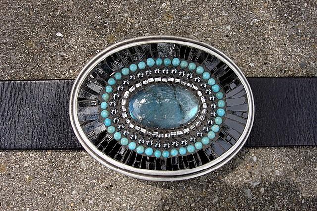 STILL WATERS-Mosaic belt buckle