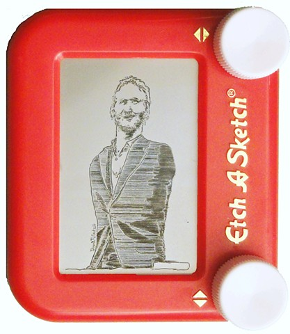 Nick Vujicic Portrait Etch A Sketch Art by David Roberts