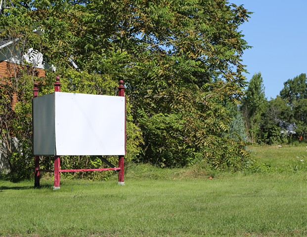 colour photograph of blank sign or billboard from around the world by Walter Segers