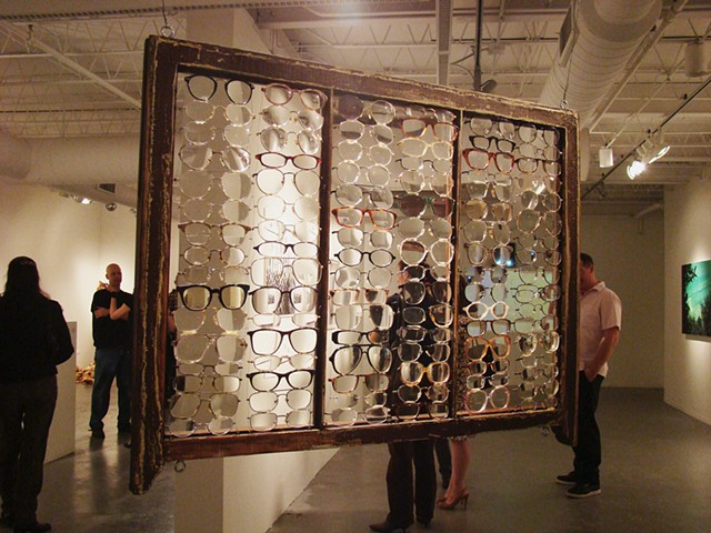 Art object, installation, sculpture, Monica Herrera, eye glasses