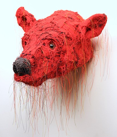 Untitled (Red Bear Head)