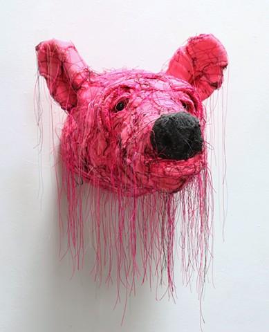 Untitled (Pink Bear Head)