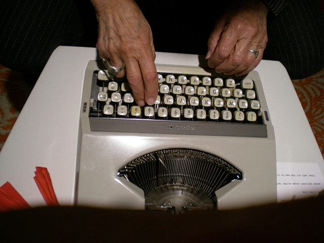 Typewriter: Mom's hands