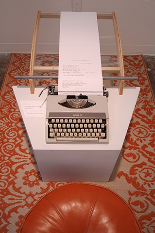 Typewriter; beginning of exhibit