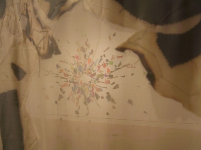 Dissolution, seen through center of Burned Mandala (Springfield Museum of Art)