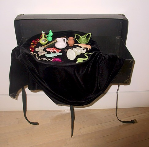 Fabrications; suitcase, source objects