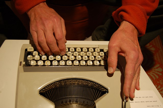 Typewriter; Scott's hands
