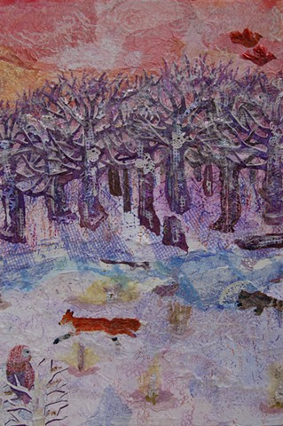 Winter; full forest, wide view; detail