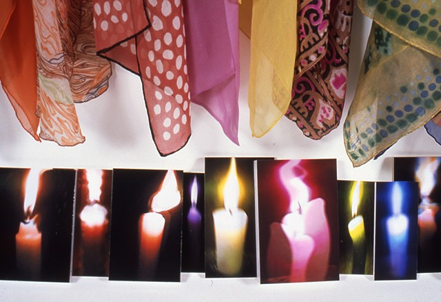 Scarves/Candles; extreme detail