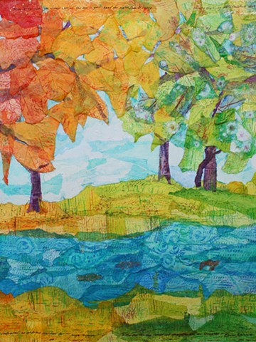Changing-Seasons Forest; Panel 2 - Autumn-Summer