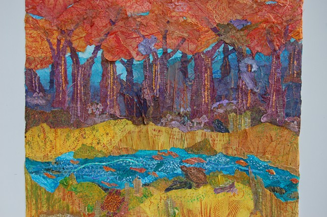 Autumn; full forest, wide view; detail