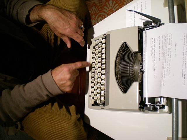 Typewriter; Tony's hands
