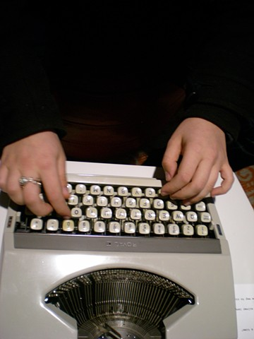 Typewriter; Naomi's hands