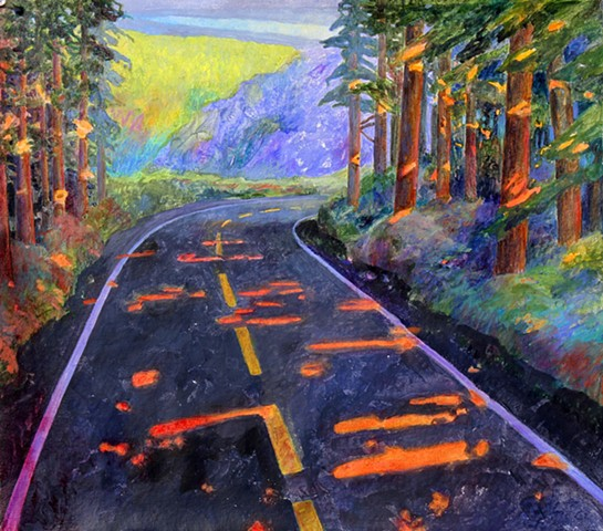 redwood forest painting