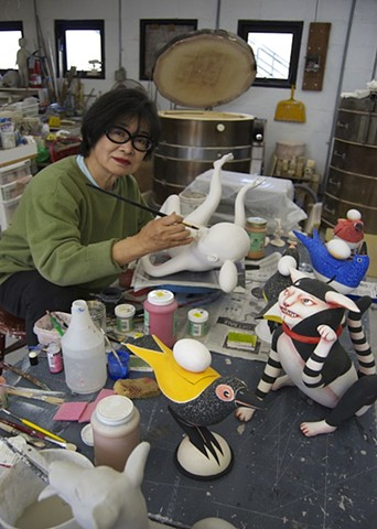 Patti Working in Studio