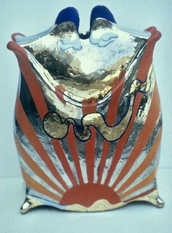 """Painted Pot #1"" (""Rising Sun"")"