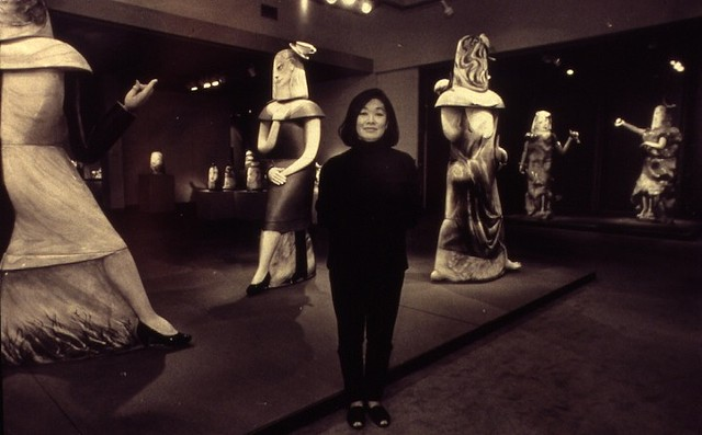Patti at Bellevue Art Museum, 29-Year Retrospective