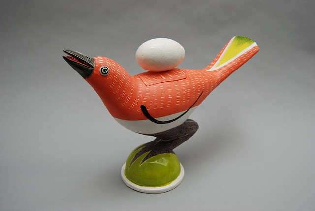 """Bird Covered Jar '13-H"""