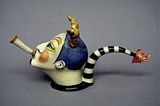 """Satyr With Stripes"" Teapot"