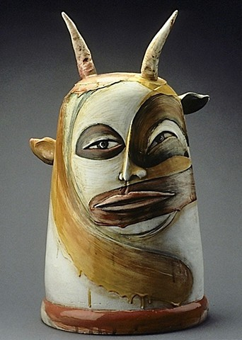 """Yellow Satyr"" Jar Head"