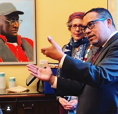 "Exhibit ""Unsung Heroes"" at office of Keith Ellison, Attorney General, MN State Capitol, St. Paul, MN  October 1, 2019 - January 31, 2020"