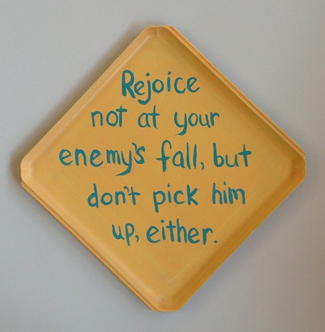 Painting repurposed proverb