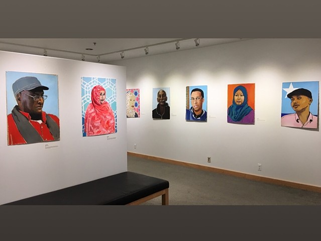 7 Portrait installation -- Sabes JCC, Minneapolis, 2018