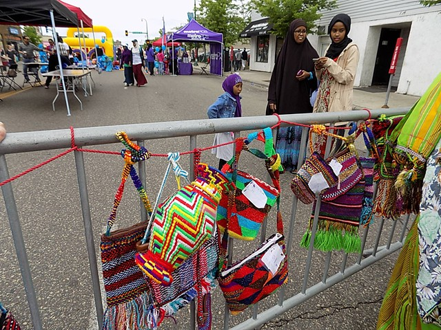 Weavings at Somali Independence Day, Lake Street, Minneapolis