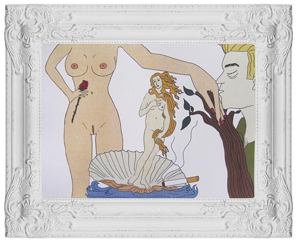 "Stefania Siclari - ""Triptych on the Venere #2 - www.instagram.com/stefania_siclari_illustration"