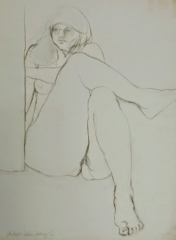 "Judith Margolis - ""Reclining and Drawing"" www.judithmargolis.com"