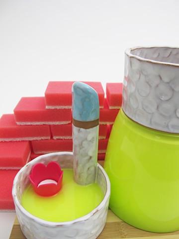 Blue/White Ware: Bricks (detail)