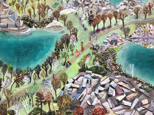 "Detail from ""The Quarries""."