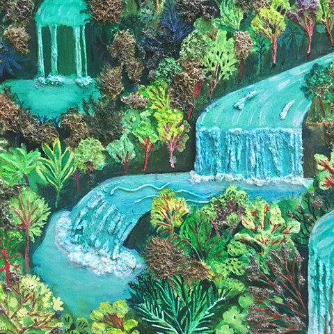"Detail of ""Twenty-Seven Waterfalls"""