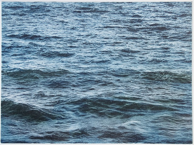 Polymer photogravure intaglio print of choppy waves on Mille Lacs Lake, Minnesota.