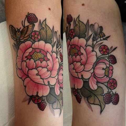 Tattoo by Samantha Sirianni. La Flor Sagrada Tattoo. MELBOURNE, AUSTRALIA
