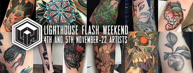 LIGHTHOUSE TATTOO FLASH WEEKEND