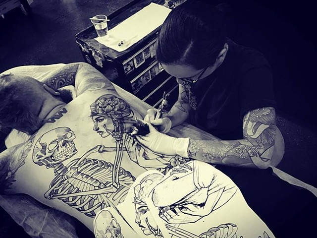 SAMANTHA SIRIANNI. Tattoo Artist at La Flor Sagrada Tattoo. Melbourne. Australia
