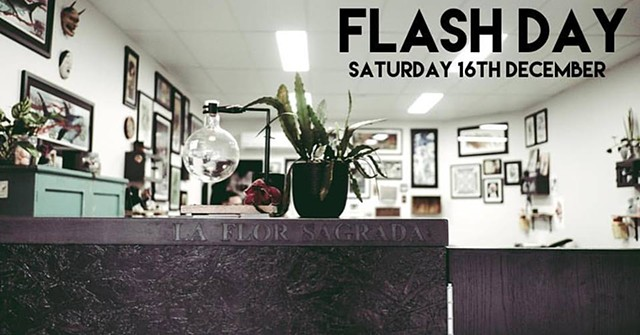 FLASH DAY @ LA FLOR SAGRADA TATTOO!!!!
