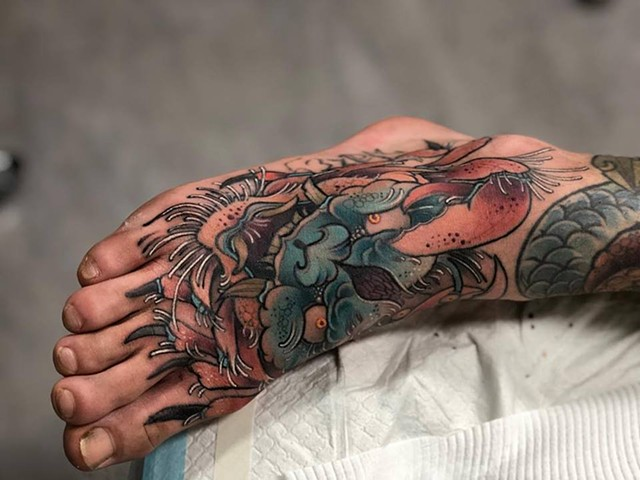 Samantha Sirianni.Crab foot Tattoo. By Artist Samantha. La Flor Sagrada Tattoo. Melbourne. Australia