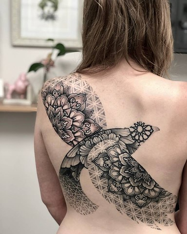 SAMANTHA SIRIANNI. Backpiece. Tattoo Artist at La Flor Sagrada Tattoo. Melbourne. Australia
