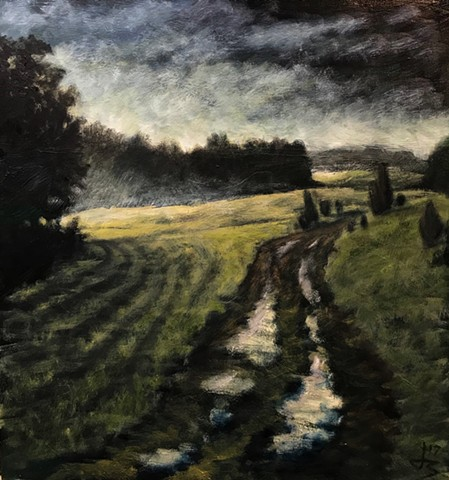 Wet Night Field - SOLD